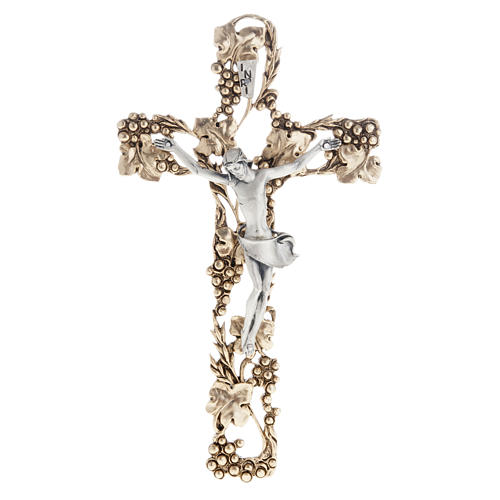 Crucifix, gold-plated with grape branches 24cm 1