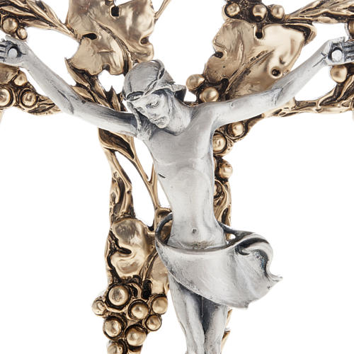 Crucifix, gold-plated with grape branches 24cm 2