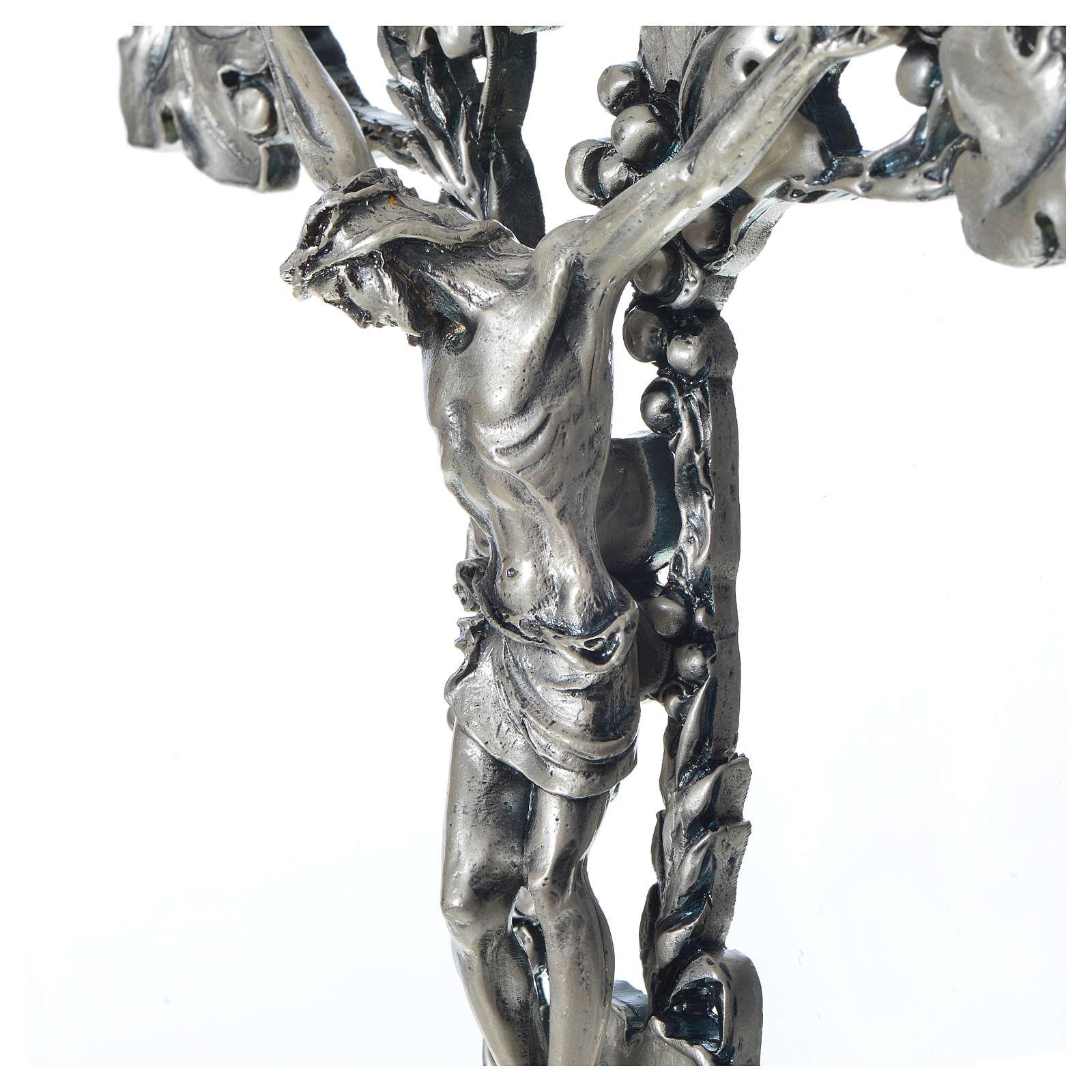 Crucifix doré argenté raisins 4