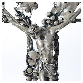 Crucifix doré argenté raisins s2
