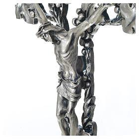 Crucifix doré argenté raisins s3