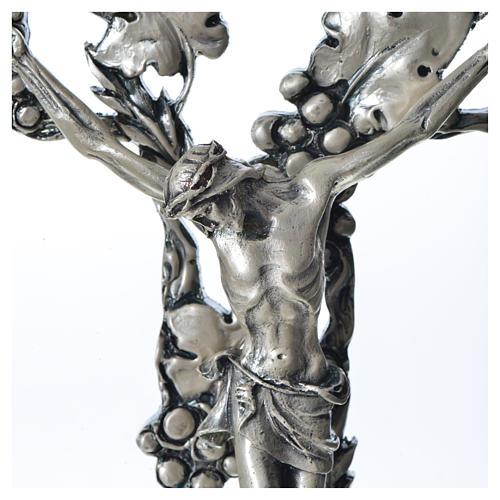 Crucifix doré argenté raisins 2