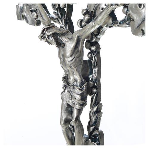 Crucifix doré argenté raisins 3