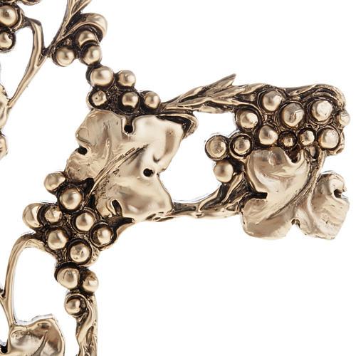 Crucifix doré raisins 2