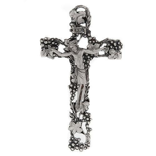 Crucifix doré argenté raisins 1