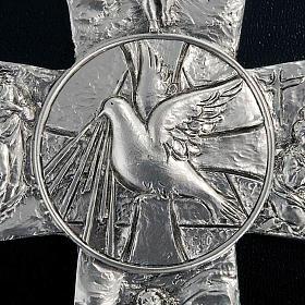Cross with deposition resurrection ascension Holy Spirit symbols s2