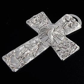 Cross with deposition resurrection ascension Holy Spirit symbols s4