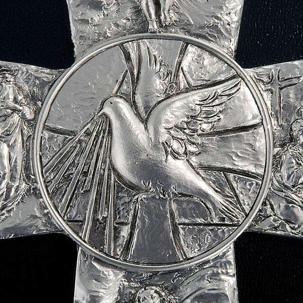 Crucifix argenté resurréction, ascension, saint es 4