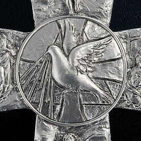 Crucifix argenté resurréction, ascension, saint es s2