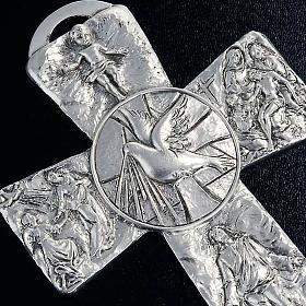 Crucifix argenté resurréction, ascension, saint es s3