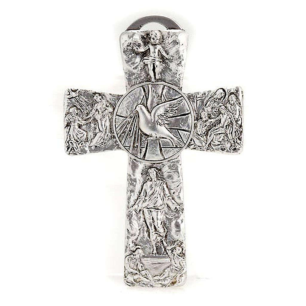 Krzyż posrebrzany zdjęcie z krzyża zmartwychwstanie wniebowstąpienie Duch święty 4