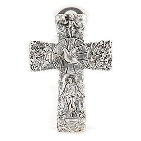 Krzyż posrebrzany zdjęcie z krzyża zmartwychwstanie wniebowstąpienie Duch święty s1