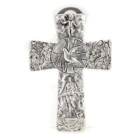 Cross with Symbols of Deposition Resurrection Ascension Holy Spirit s1