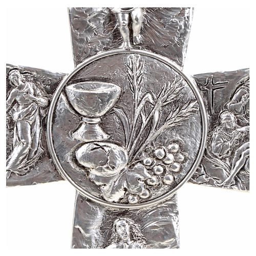 Crucifix, silver table cross with Burial, Resurrection, Ascensio 4