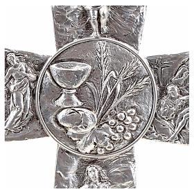 Croce argentata deposizione resurrezione ascensione calice pane s4
