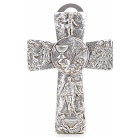 Crucifix, silver table cross with Burial, Resurrection, Ascensio s1