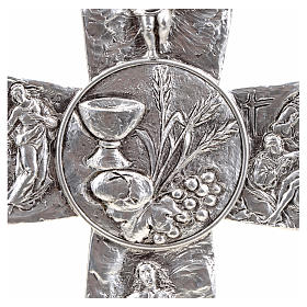 Crucifix, silver table cross with Burial, Resurrection, Ascensio s4