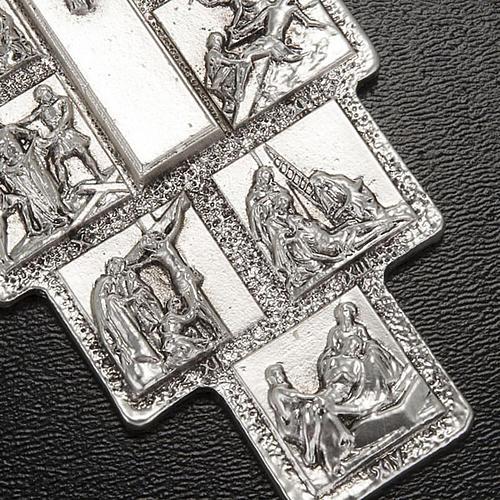 Crocifisso argento 14 stazioni Via Crucis e Cristo Risorto 3
