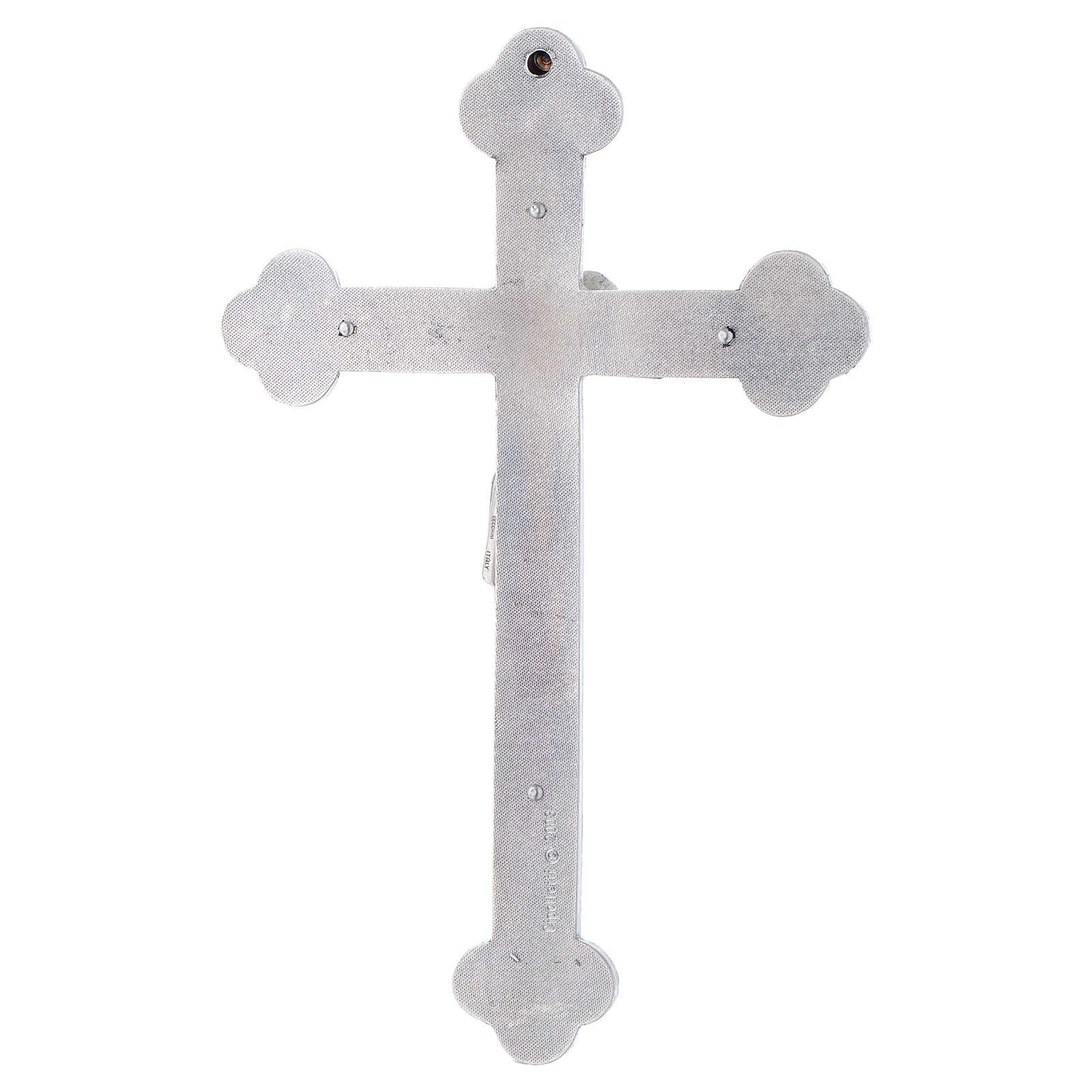 Crucifix métal 4 évangélistes 4