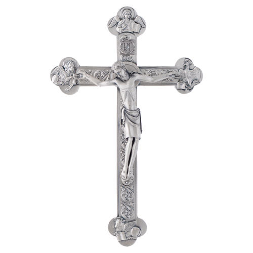Metal crucifix, silver or gold with 4 Evangelists 3