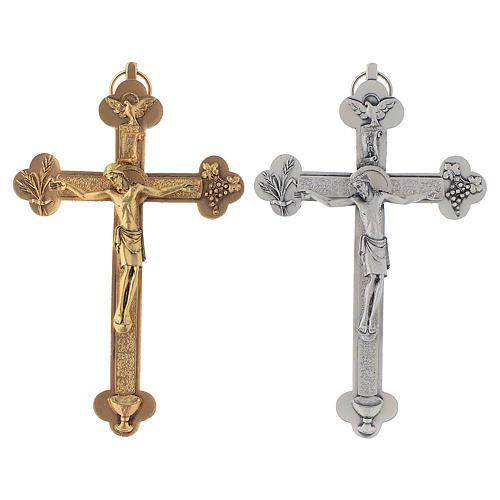 Crucifix métal Saint Esprit calice 1