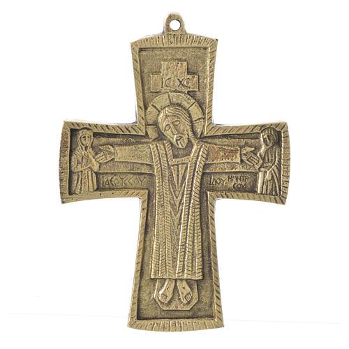Jesus Priest and King Crucifix Bethlehem Monks 14x10 1