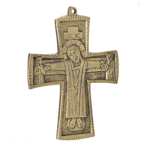 Jesus Priest and King Crucifix Bethlehem Monks 14x10 2