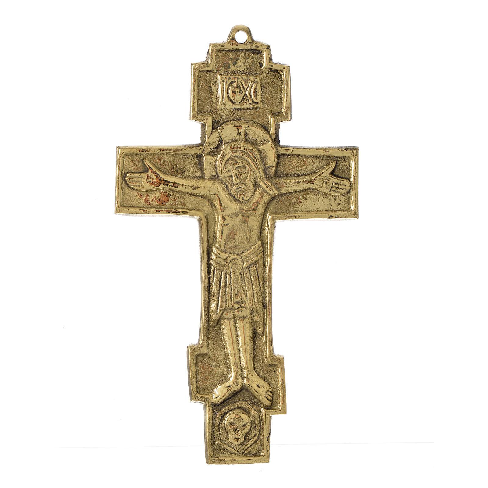 Jesus King Crucifix Bethlehem Monks 18x10 4