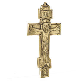 Jesus King Crucifix Bethlehem Monks 18x10 s2