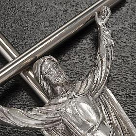 Cristo Risorto croce metallo argentato s2
