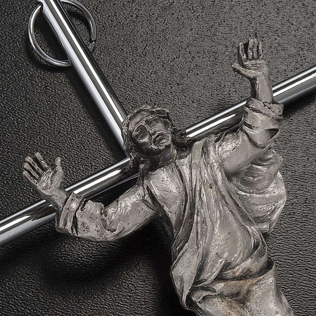 Cristo Resucitado plateado de pared 4