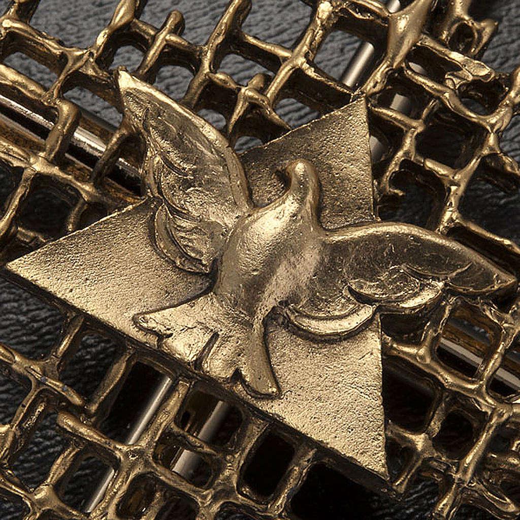 Cruz metal dorado Padre y Espíritu Santo 4