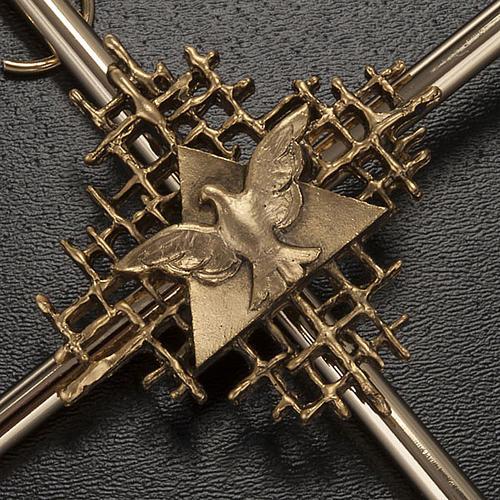 Cruz metal dorado Padre y Espíritu Santo 2