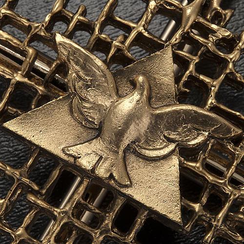 Cruz metal dorado Padre y Espíritu Santo 3