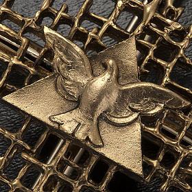 Crucifix métal doréé père et saint esprit s3