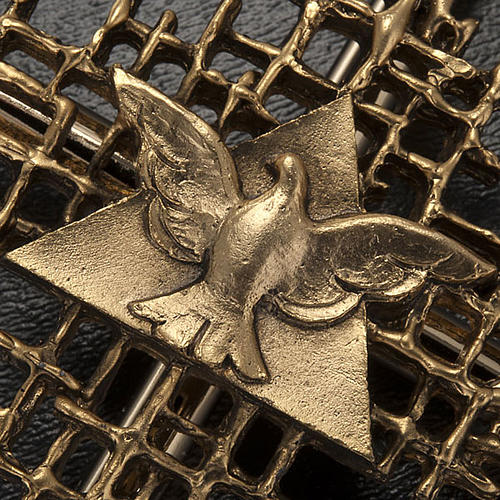 Crucifix métal doréé père et saint esprit 3