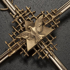 Croce metallo dorato Padre e Spirito Santo s2