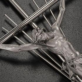 Crucifijo metal plateado con rayos s2