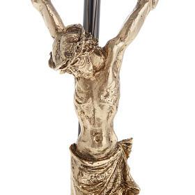 Crucifix foncé avec Corps du Christ doré 35 cm s2