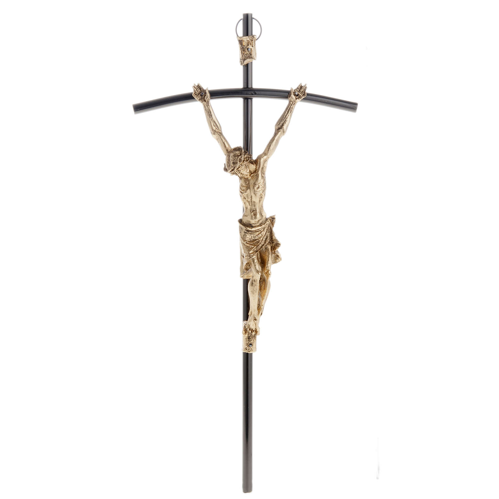 Crocefisso scuro con Corpo dorato 35 cm 4