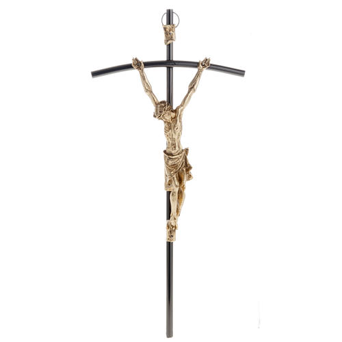 Crucifix, dark colour with golden Body 35cm 1