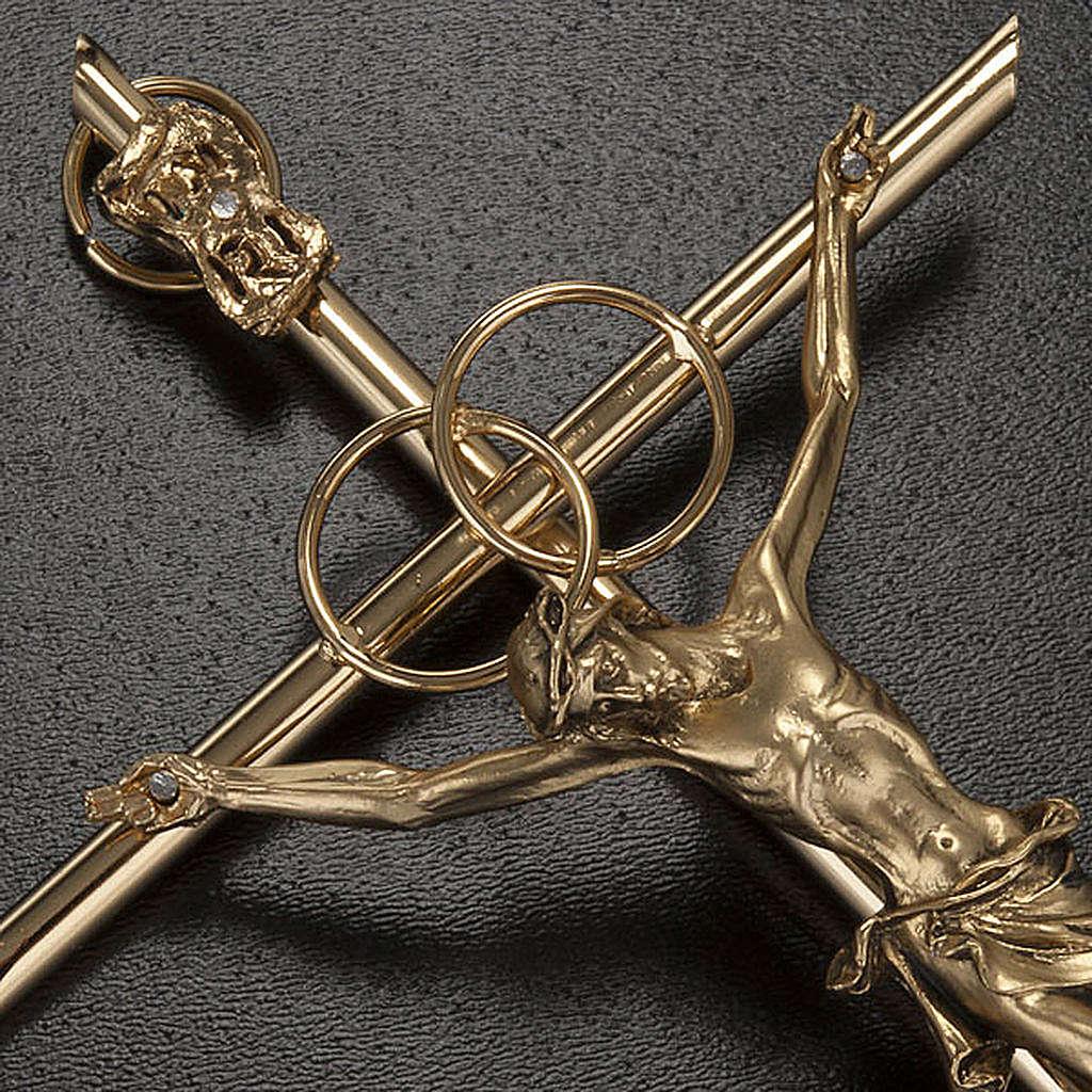 Crucifix doré anniversaire noces d'or 4