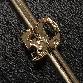 Crucifix doré anniversaire noces d'or s3