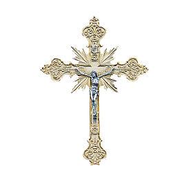 Crucifix mural en laiton 56x40 cm s1