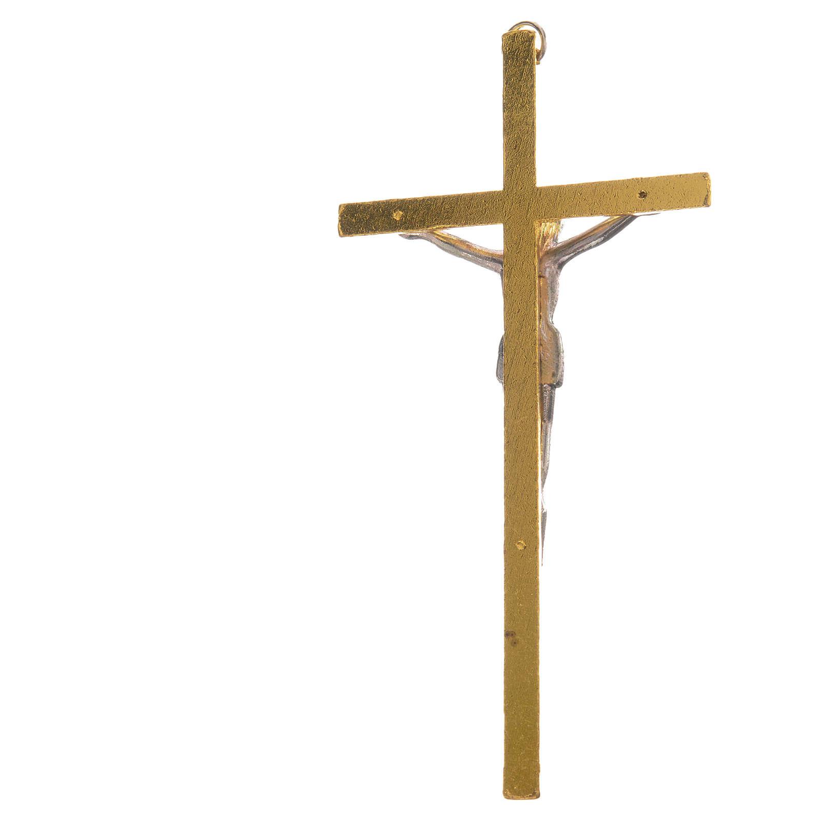 Crucifix métal doré 11 cm 4