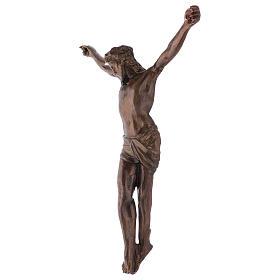 Corps du Christ laiton bronzé 67cm s3