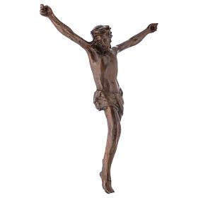 Corps du Christ laiton bronzé 67cm s4