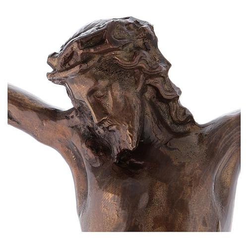 Corps du Christ laiton bronzé 67cm 2