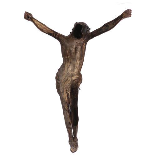 Corps du Christ laiton bronzé 67cm 5