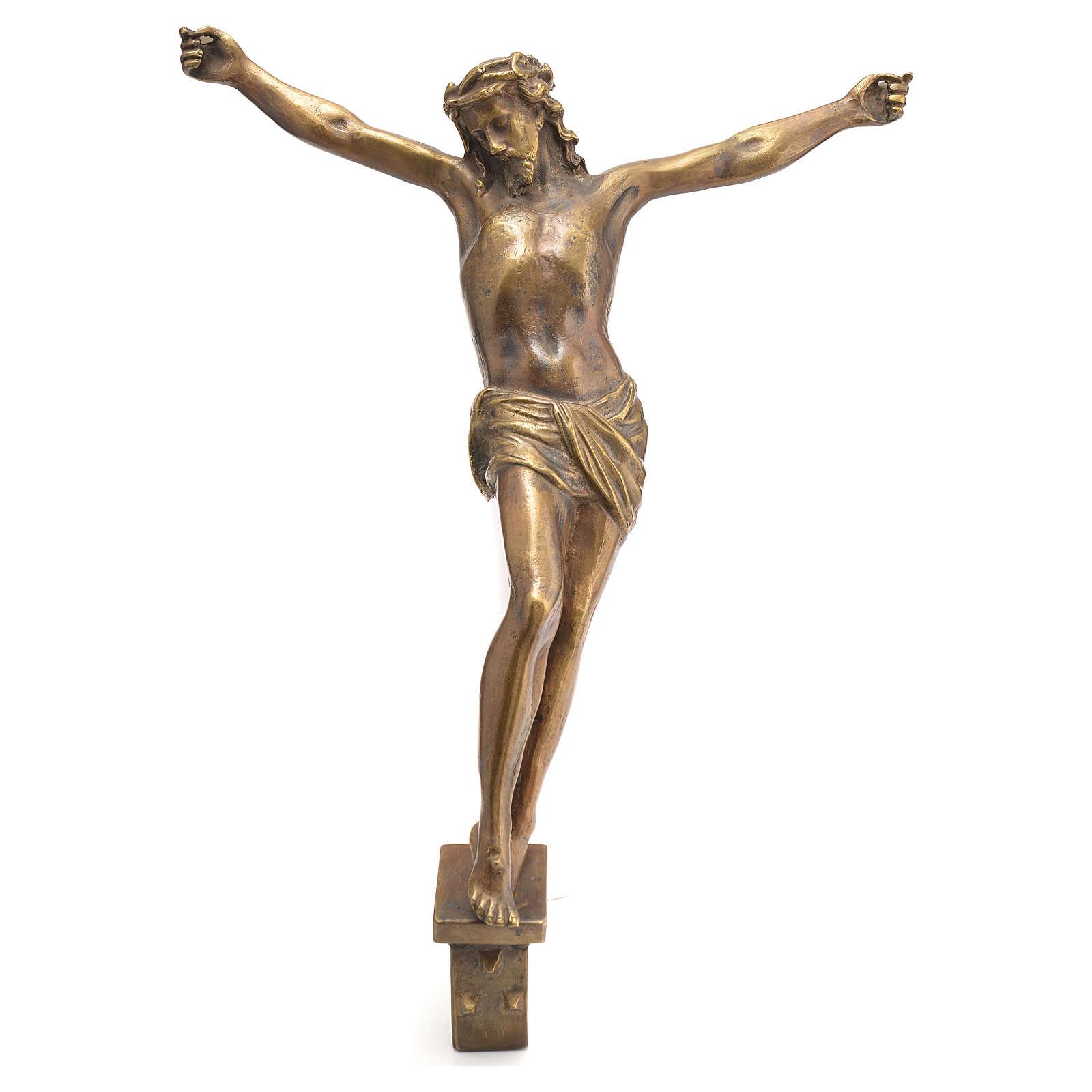 Corpo di Cristo ottone bronzato 67 cm 4